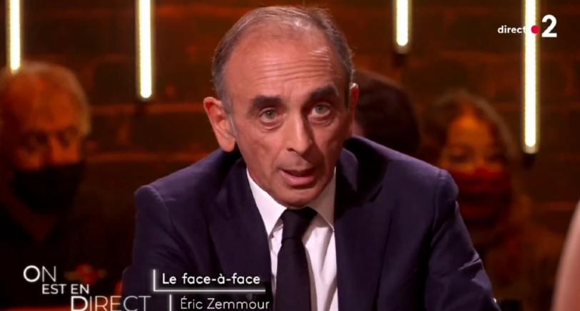 Zemmour face à Ruquier et Salamé : « 70% des Français pensent comme moi : Nous ne sommes plus chez nous aujourd'hui. Il ne suffit pas d'être né en France pour être Français » (Vidéo)