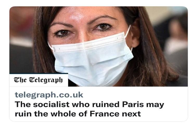Les Anglais raillent la candidature d'Hidalgo «La socialiste qui a ruinée Paris pourrait ruiner la France entière prochainement»