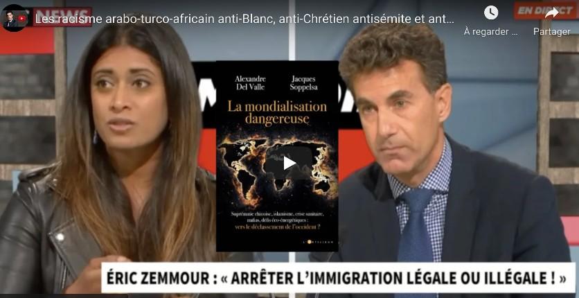 Alexandre Del Valle «Les racisme arabo-turco-africain anti-Blanc, anti-chrétien, antisémite et anti-Asiatiques progresse» (Vidéo)