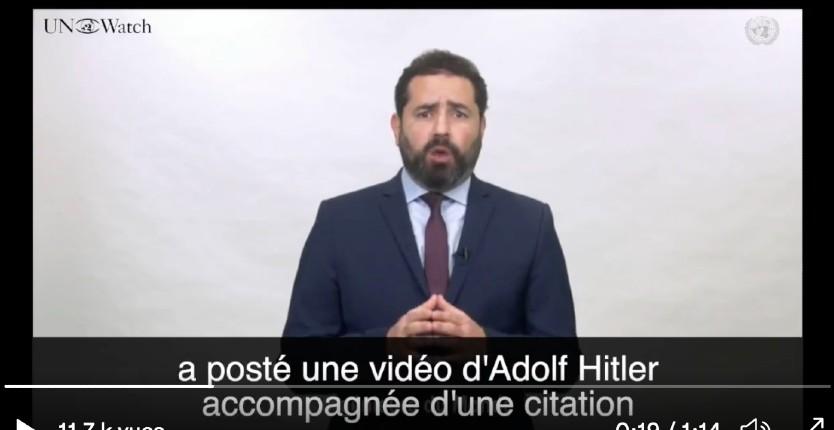 ONU: Le Conseil des droits de l'Homme censure UN Watch qui dénonce les enseignants de l'UNRWA qui glorifient Hitler jugeant ses «remarques désobligeantes, insultantes et incendiaires» (Vidéo)
