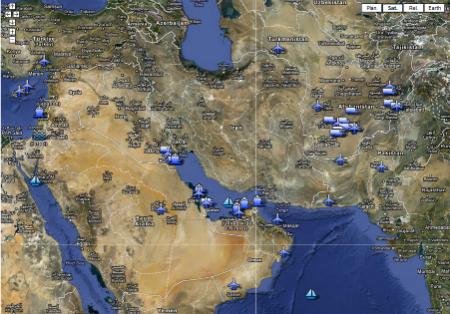 Golfe persique/Moyen-Orient : Carte des bases américaines autour de l'Iran