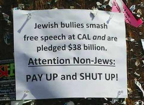 Posters Demonizing Jews Crop Up on UC Berkeley Campus, as Controversial Anti-Zionism Course Reinstated