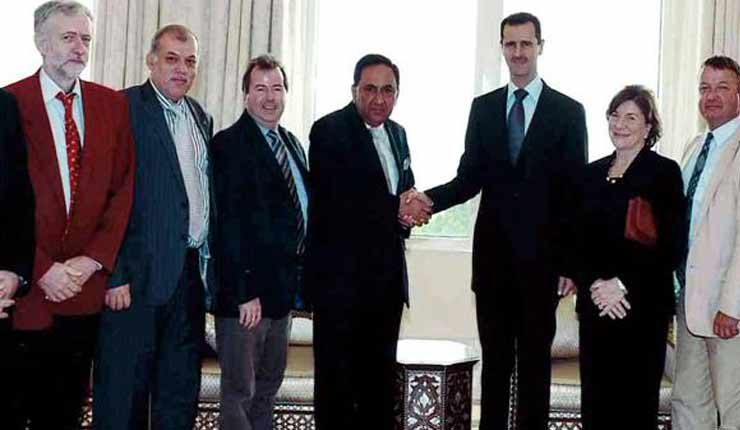 Jeremy Corbyn met Syrian leader Assad and slammed Israeli meddling in US politics