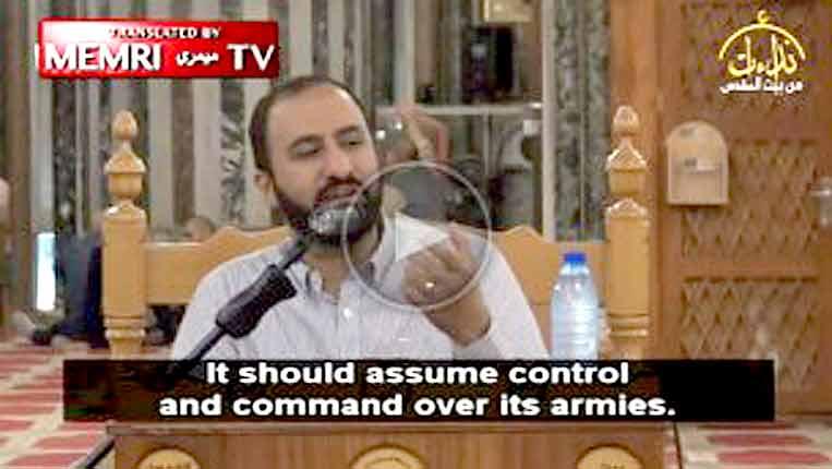 Palestinian cleric 'Abd Al-Salam Abu Al-'Izz at Al-Aqsa Mosque: Use Pakistani nukes to eliminate Israel