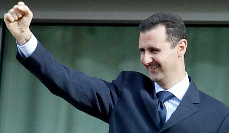 President Assad laughs and says he sleeps fine when asked about all the children killed in Syria
