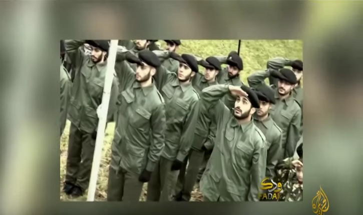 [Video] United Kingdom: Shia militia march in military uniform in a suburb of London