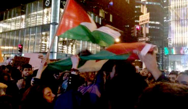 Anti-Israel Marchers Join Trump Protests in New York City; Call for 'Intifada Revolution'