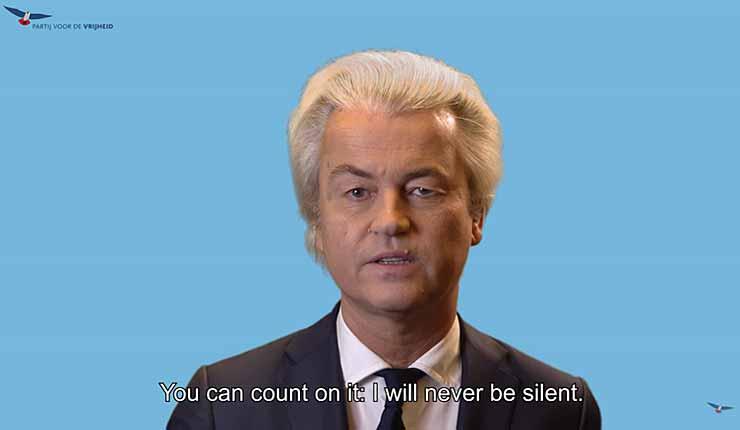 Reaction of Geert Wilders to His Conviction