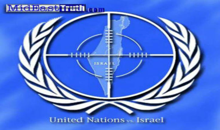As Syria burns, the United Nations again bashes … Israel