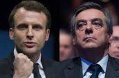 Fillon (pic.right)/Macron