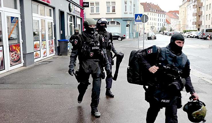 Mosques and flats are stormed by 800 Austrian police in huge anti-terror raids