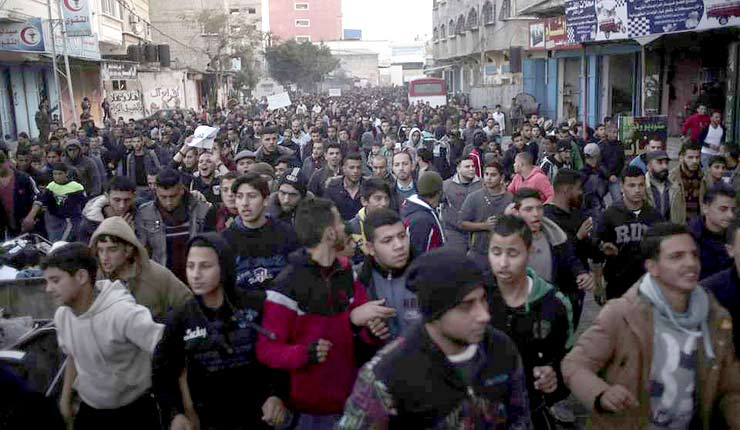 In Rare Demonstration, Thousands Protest Power Cuts in Gaza