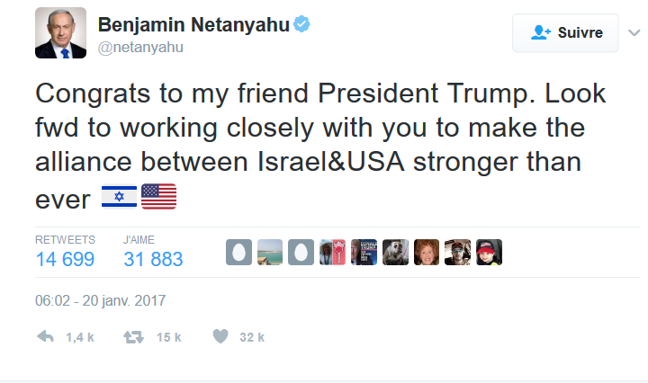 "Israeli Leaders Hail ""New Era"" of Donald Trump"
