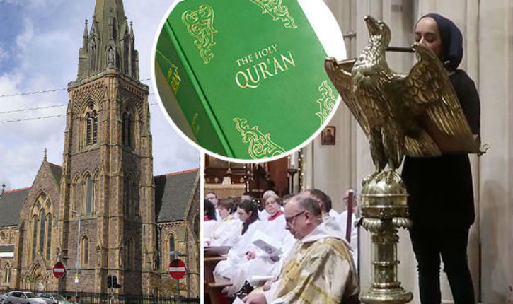 [Video] Koran sung in Arabic at SCOTTISH church service contradicts Christian teaching about Jesus