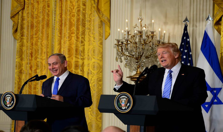 "Netanyahu at White House: ""There is no Bigger supporter of Israel than Trump"""