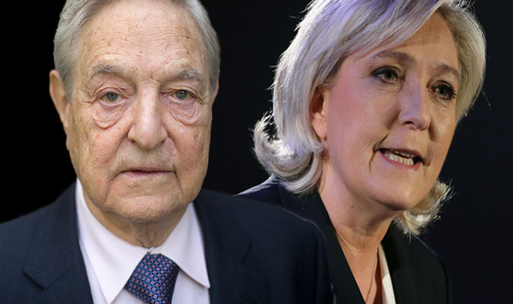 Soros Funds Google to Stop Populist Le Pen