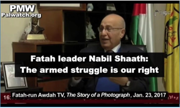 "WATCH – Top Fatah Official: ""Palestinians have right to use terror To create palestinian arab state"""